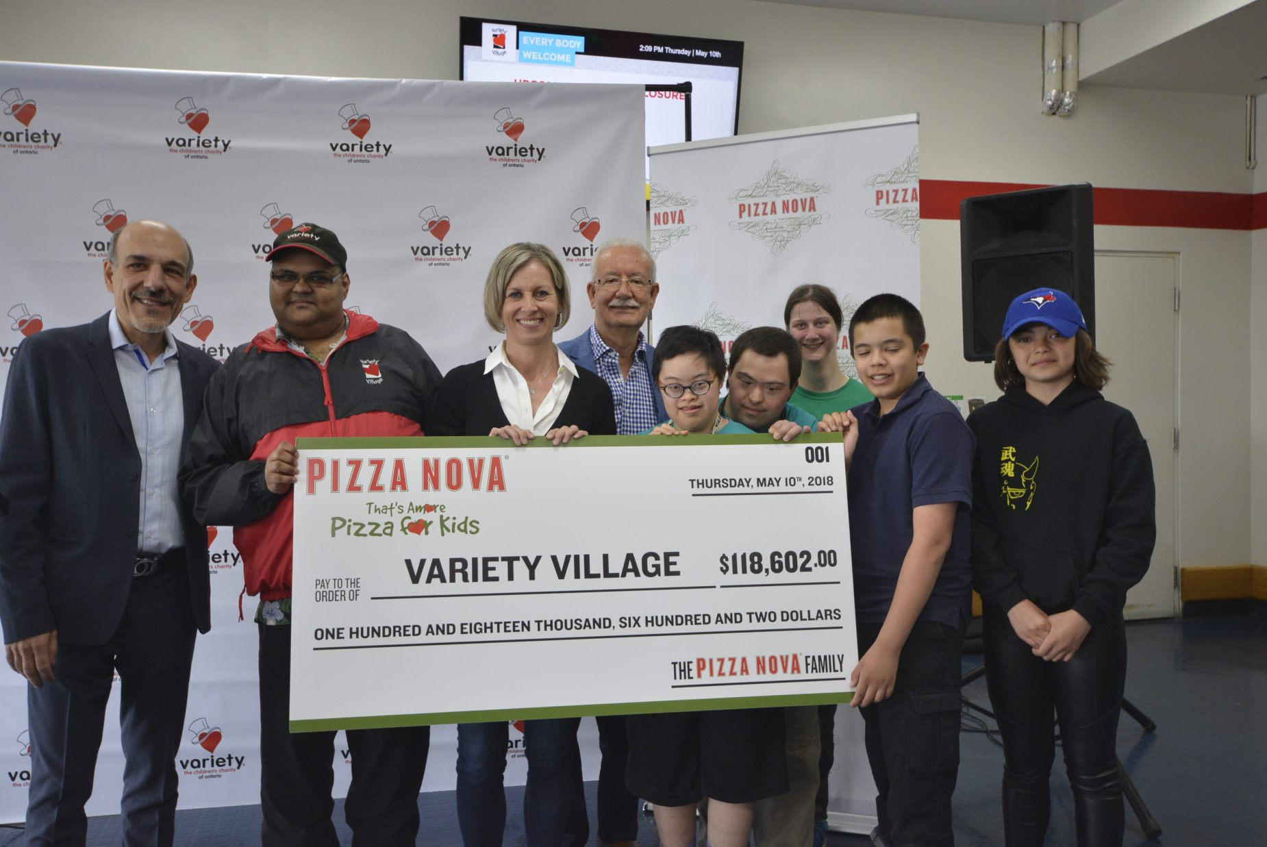 pizza nova variety village check